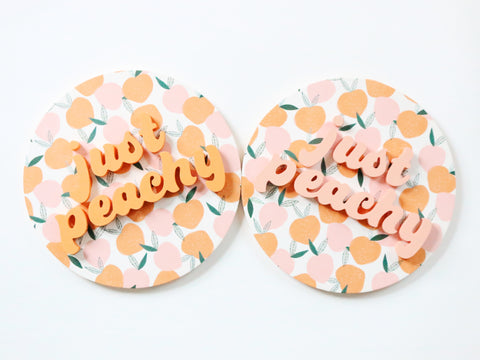 "12"" Just Peachy Summer Sign"