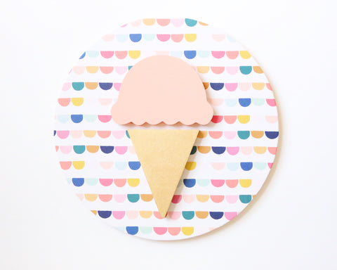 "12"" Ice Cream Summer Sign"