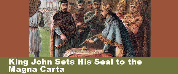 King John Sets His Seal to the Magna Carta