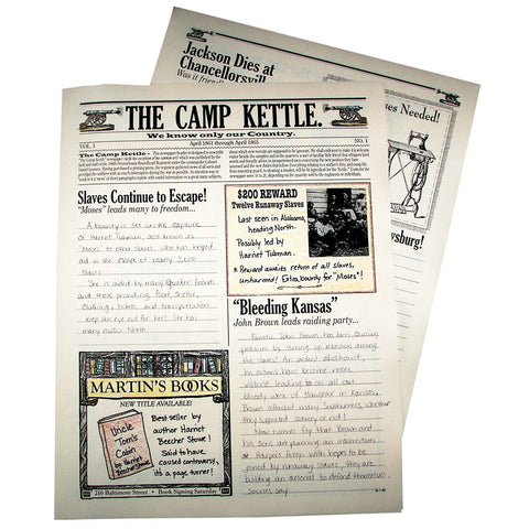 Camp Kettle Civil War creative writing newspaper