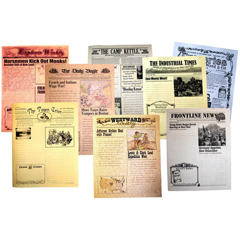 U.S. history hands-on creative writing newspapers