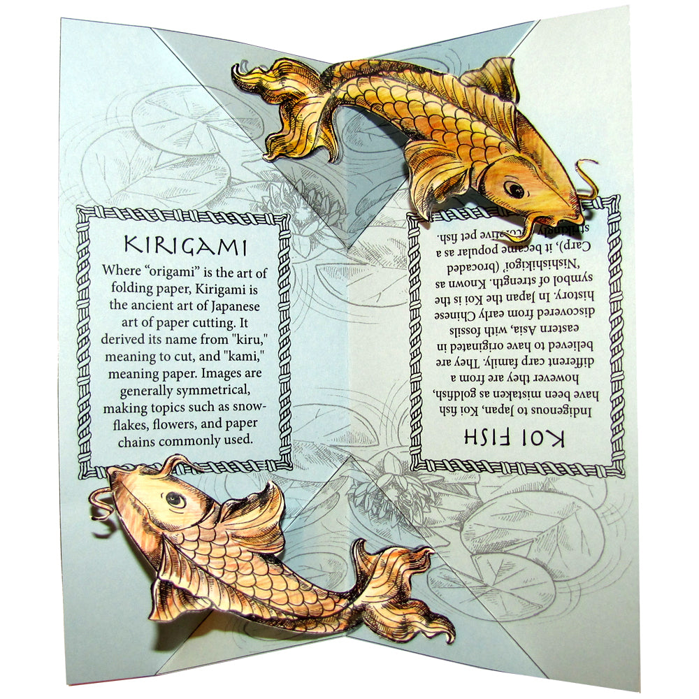 Japanese Koi Fish & Kirigami Project