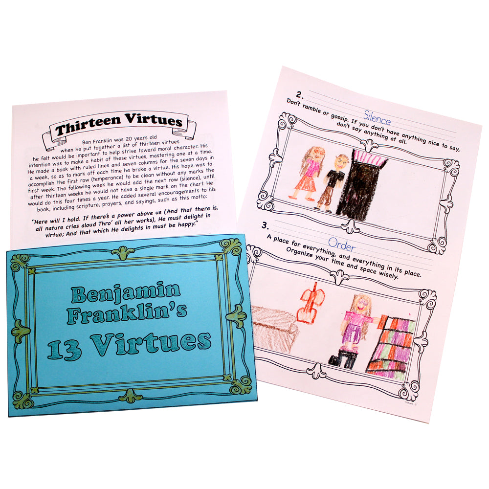 Thirteen Virtues Lap Book Project