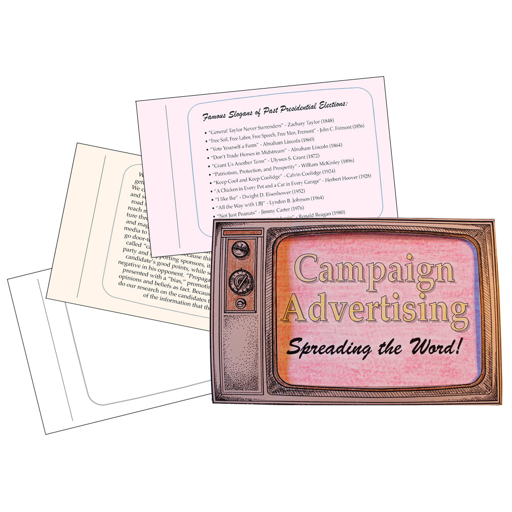 Campaign Advertising Lap Book Project