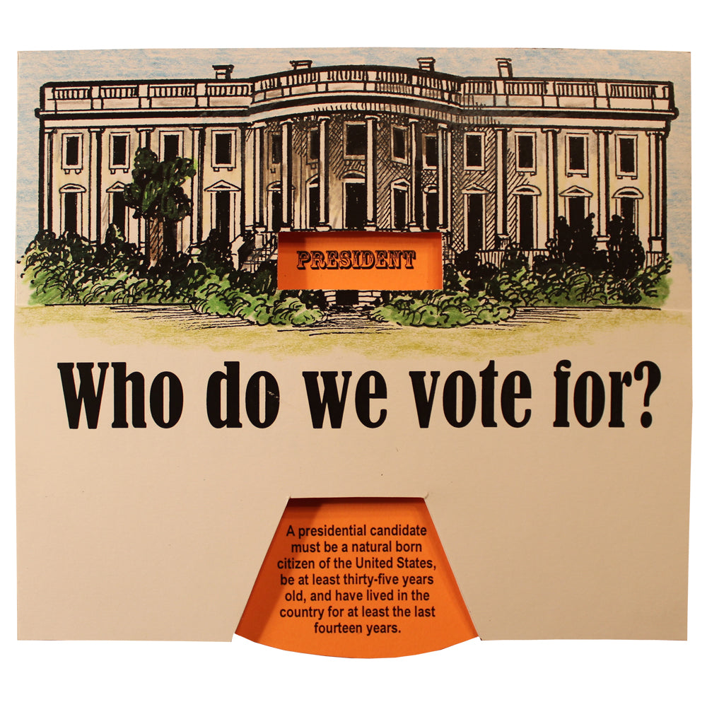 """Who Do We Vote For?"" Lap Book Project"
