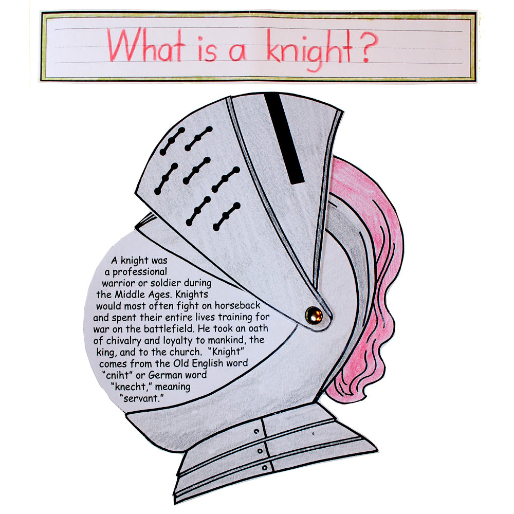 """What is a Knight?"" Lap Book Project"