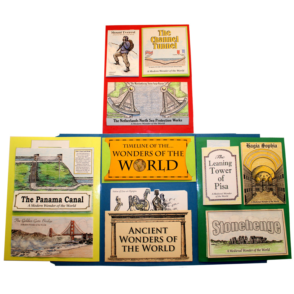 Various Views of the Wonders of the World Lap Book