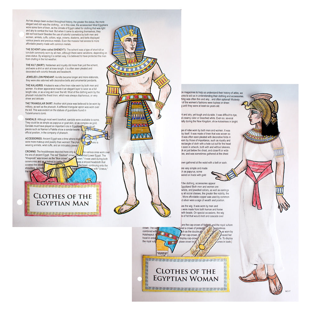 Clothes of the Egyptians Notebooking Project