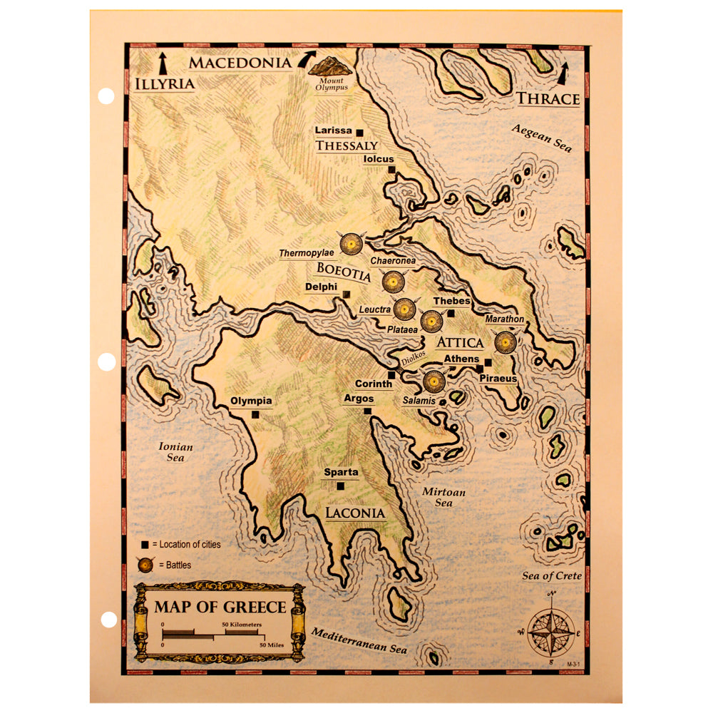 Mapping Ancient Greece Notebooking Project