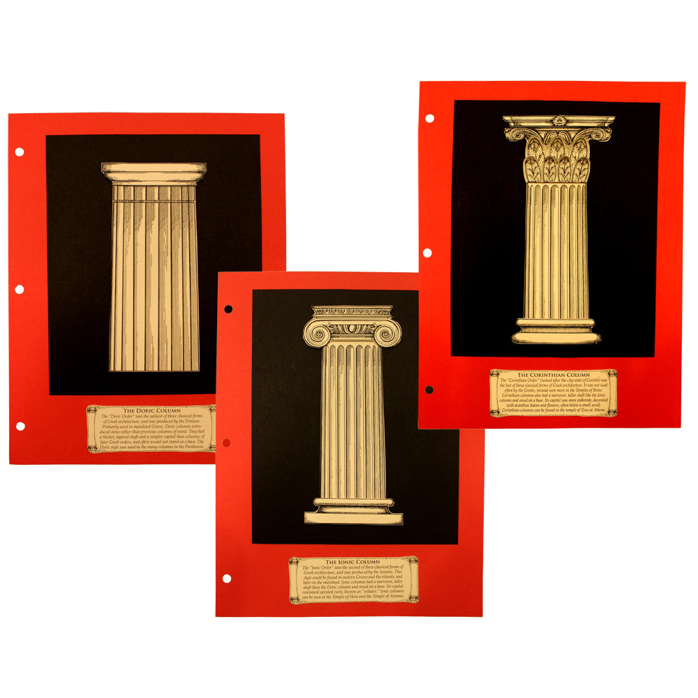 Greek Columns Notebooking Project