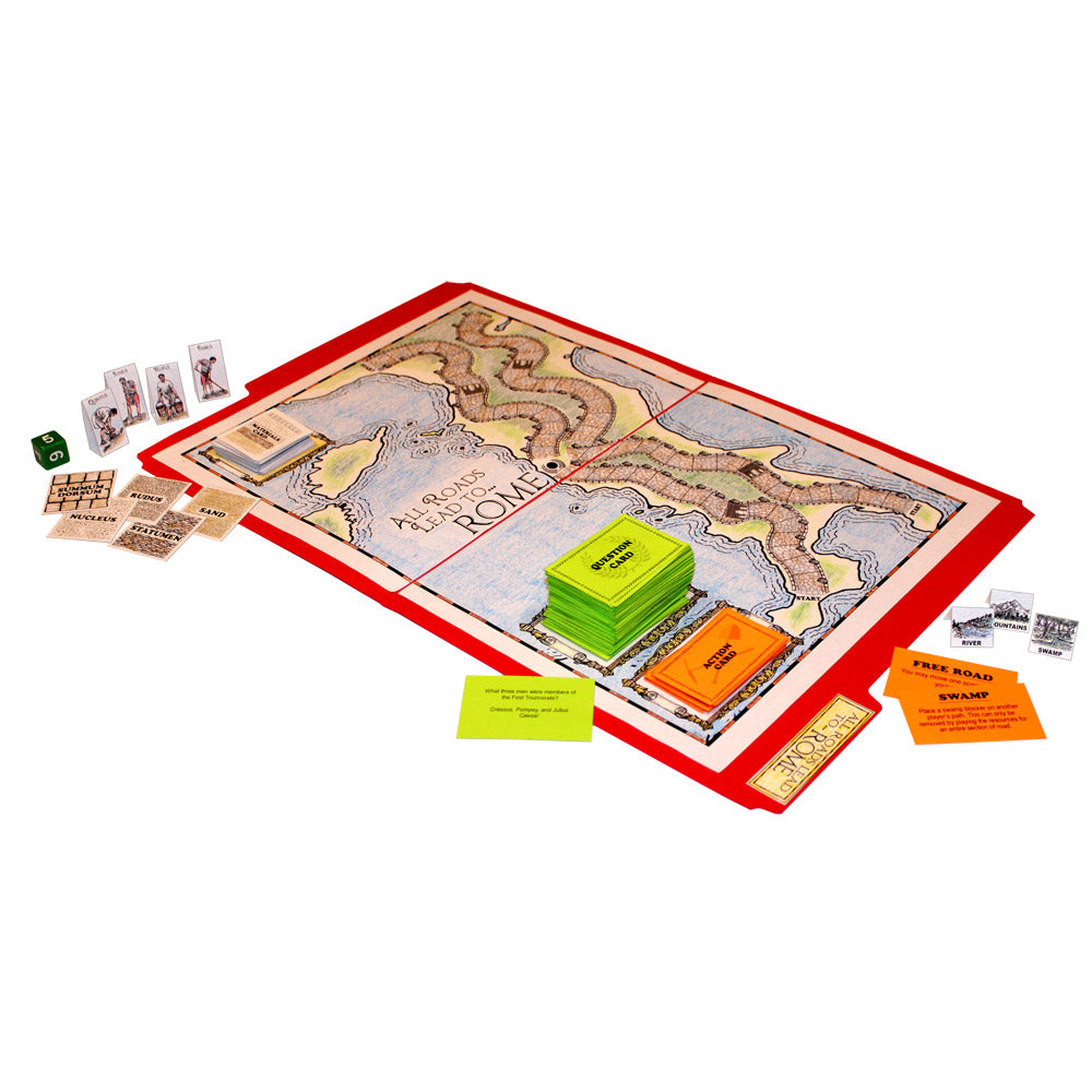 """All Roads Lead to Rome"" File Folder Game"