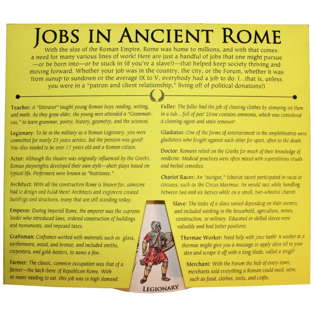 Jobs in Ancient Rome Lap Book Project