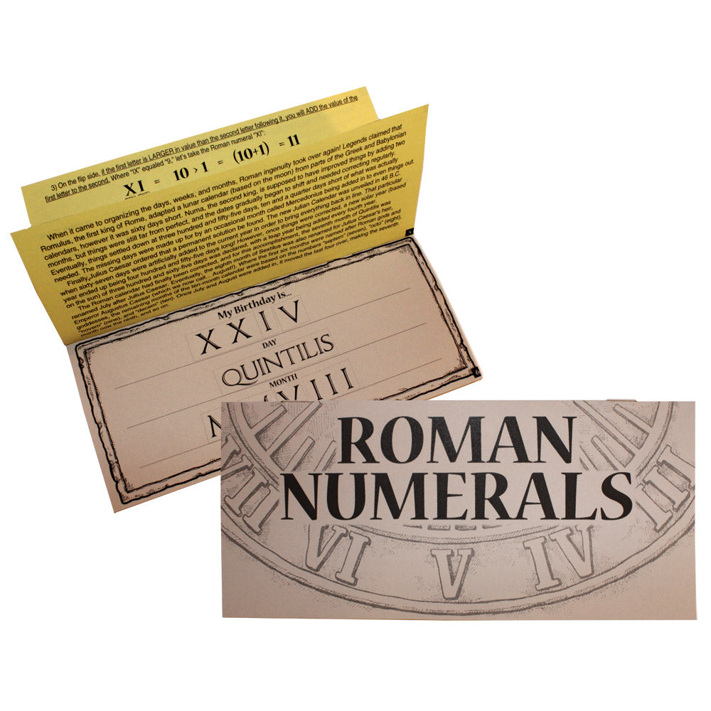Roman Numerals Lap Book Project