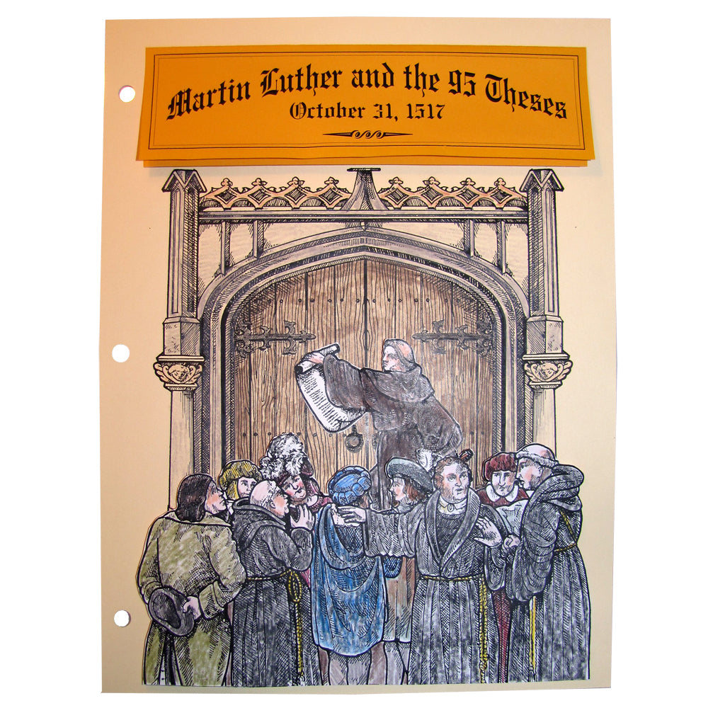 Martin Luther & the 95 Theses Notebooking Pages