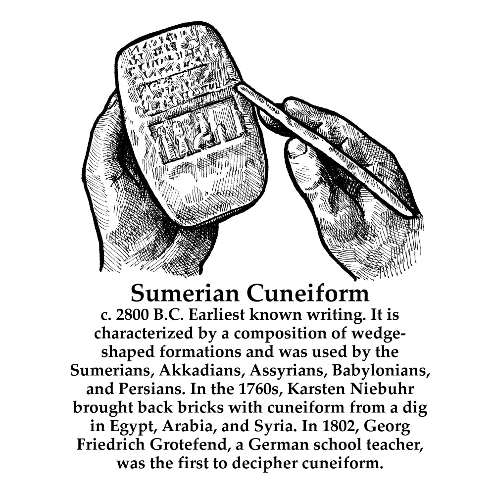 Sumerian Cuneiform Timeline Figure (With Text)