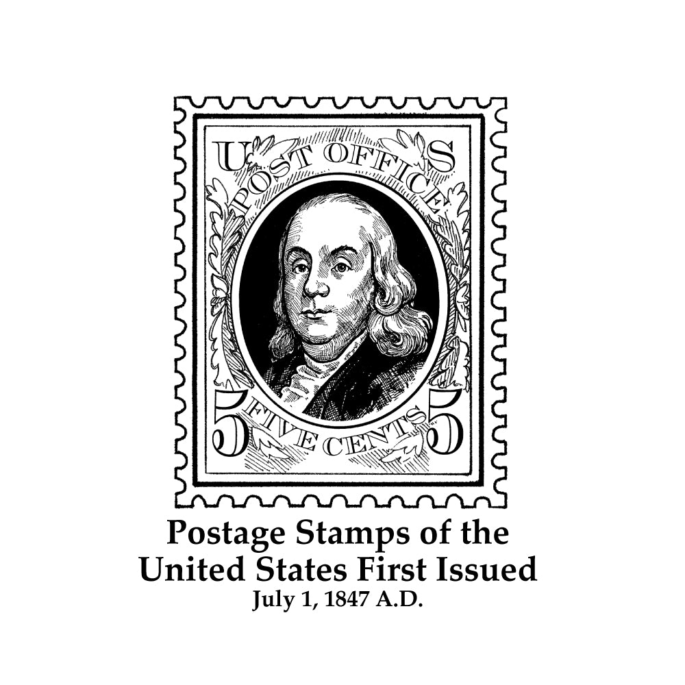 Postage Stamps of the United States First Issued Timeline Figure (Without Text)