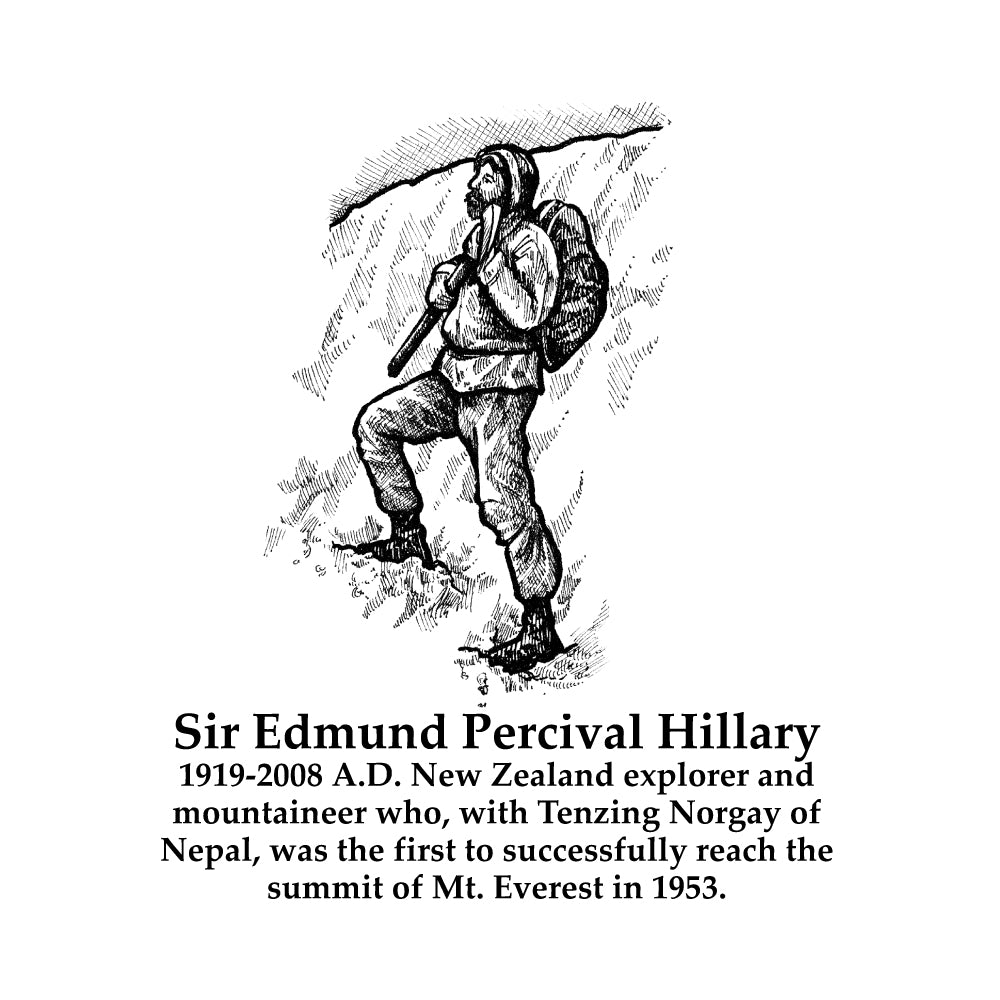 Sir Edmund Percival Hillary Timeline Figure (With Text)