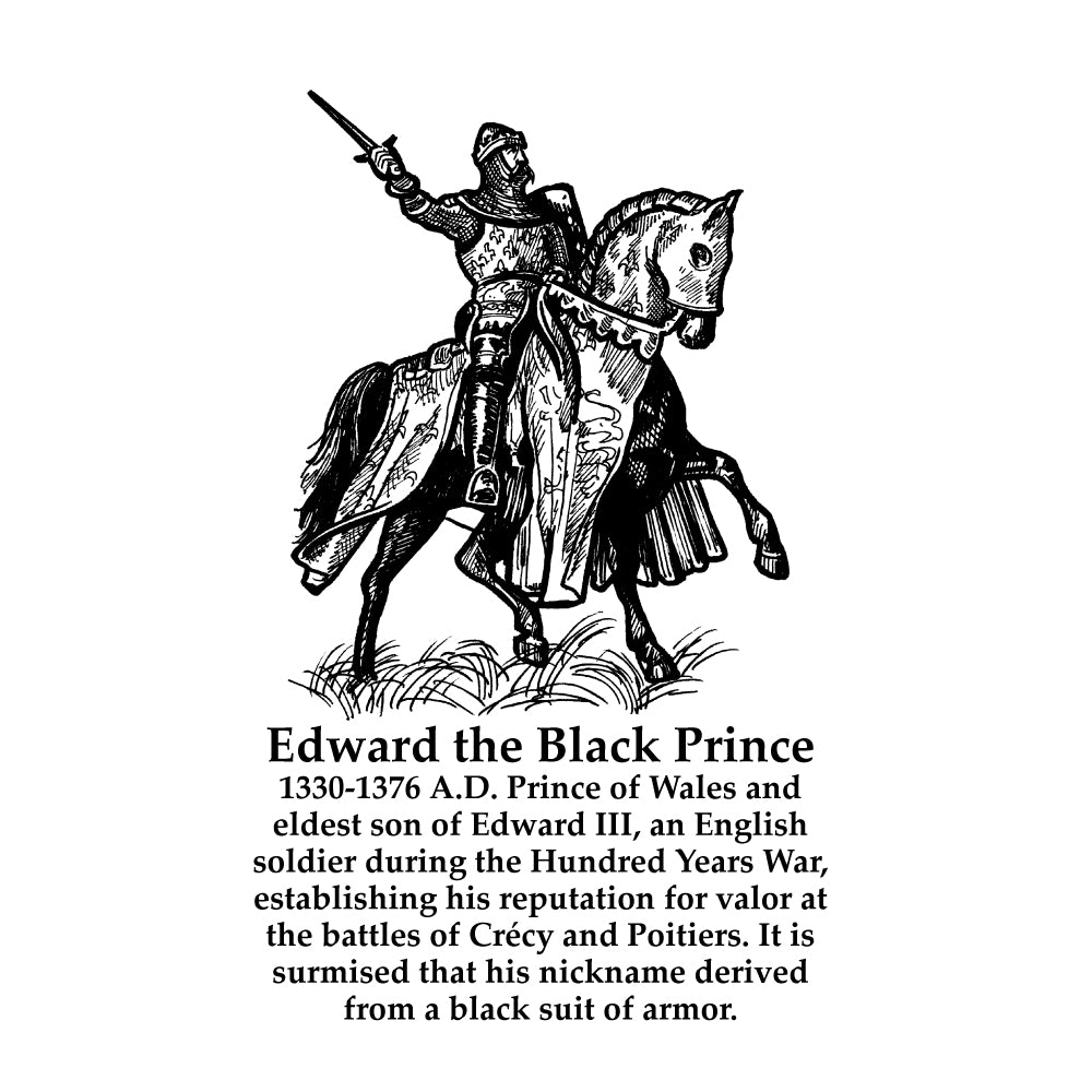 Edward the Black Prince Timeline Figure (With Text)