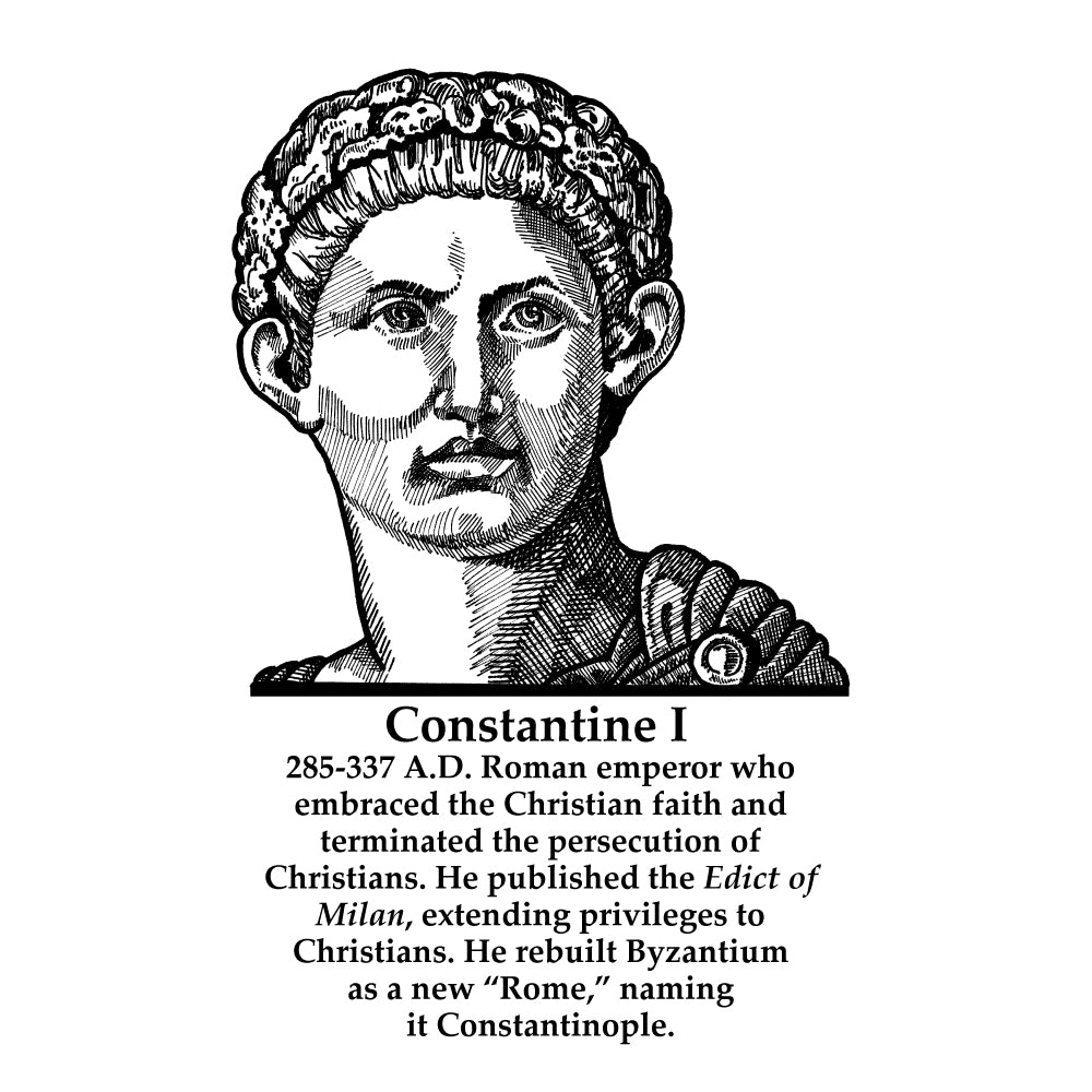 Constantine I (The Great) Timeline Figure (With Text)