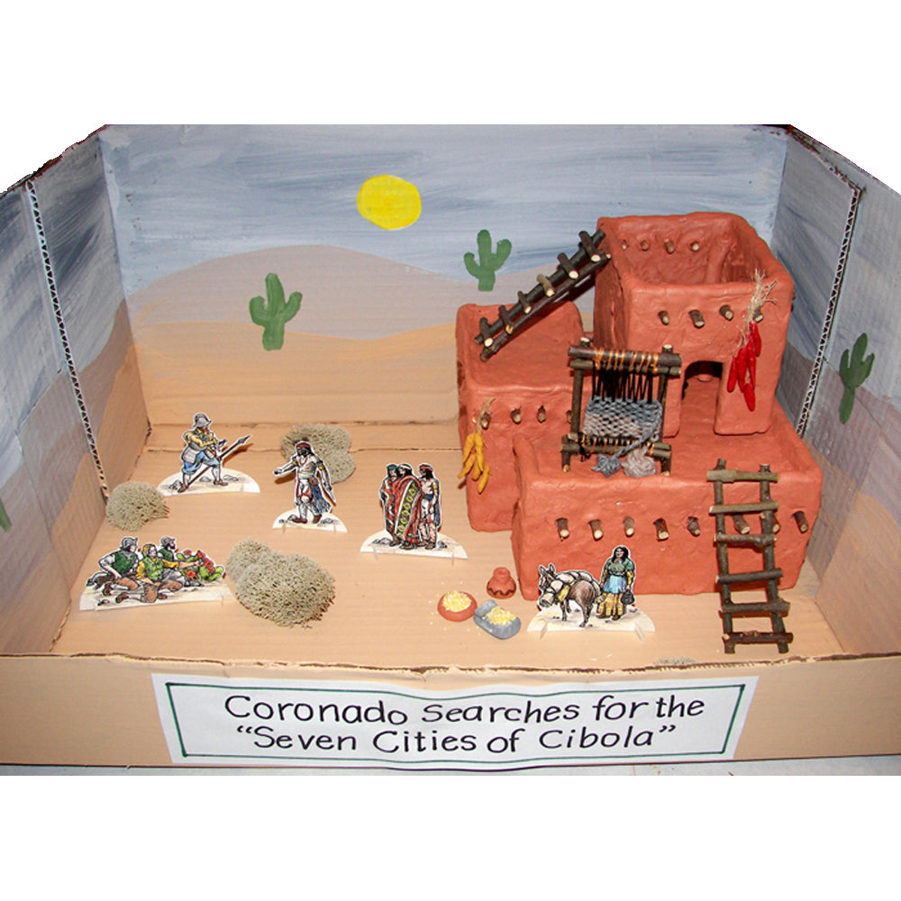 Pueblo Diorama (clay version) Project