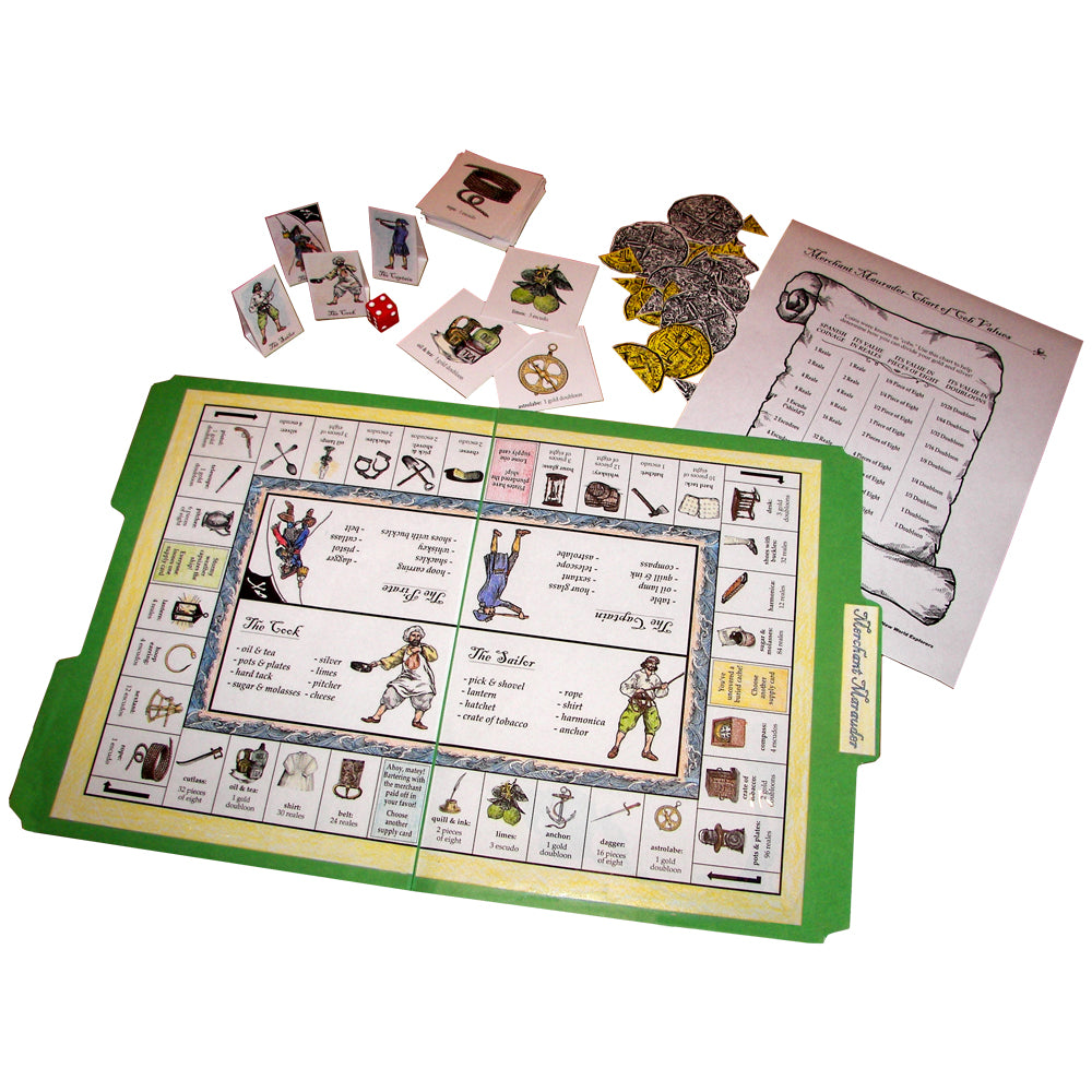 """Merchant Marauder"" File Folder Game"