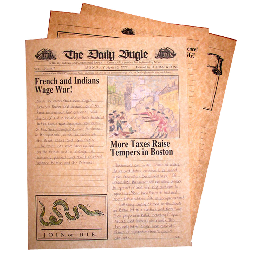 """The Daily Bugle"" Creative Writing Newspaper"