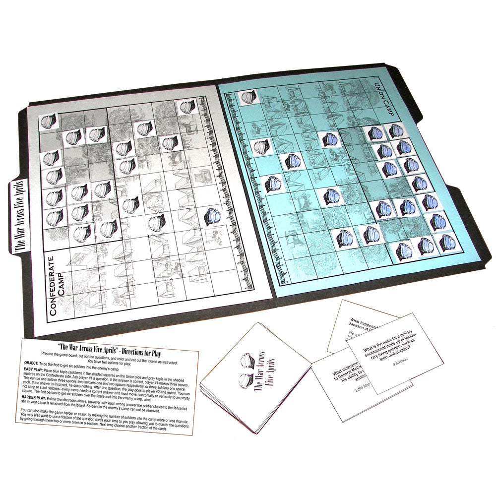 """The War Across Five Aprils"" File Folder Game"