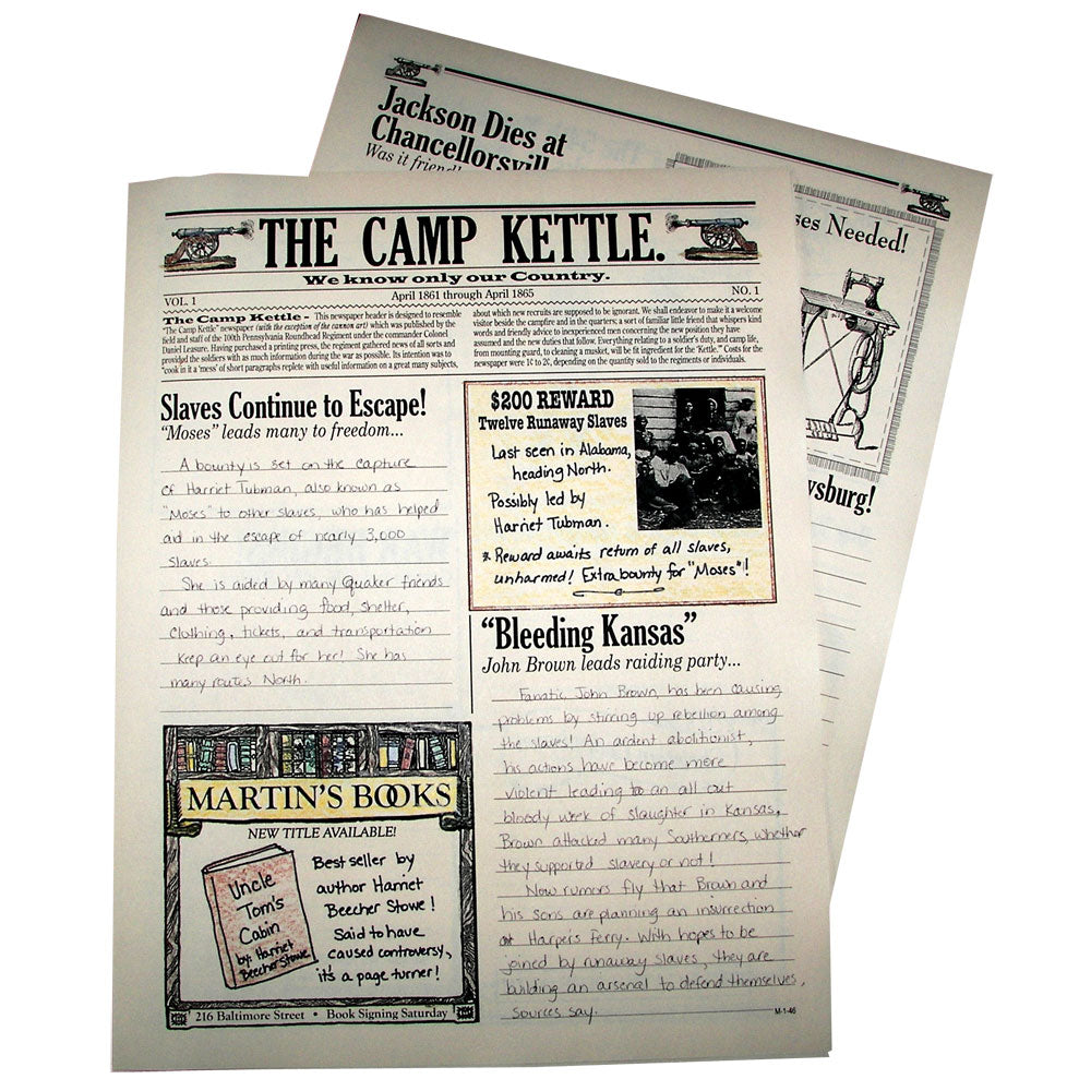"""The Camp Kettle"" Creative Writing Newspaper"