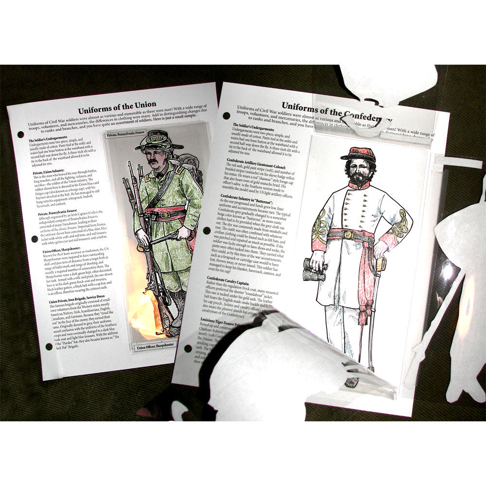 Uniforms of the North & South Notebooking Pages