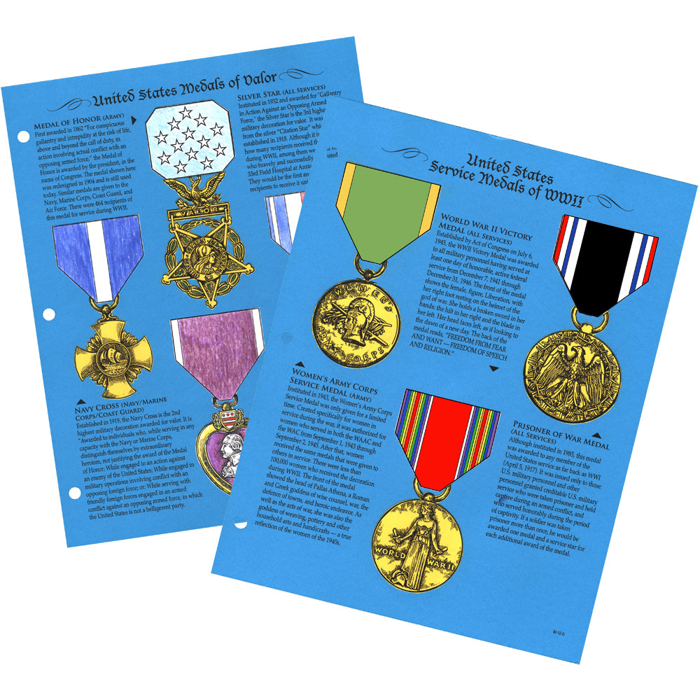 Medals Notebooking Pages
