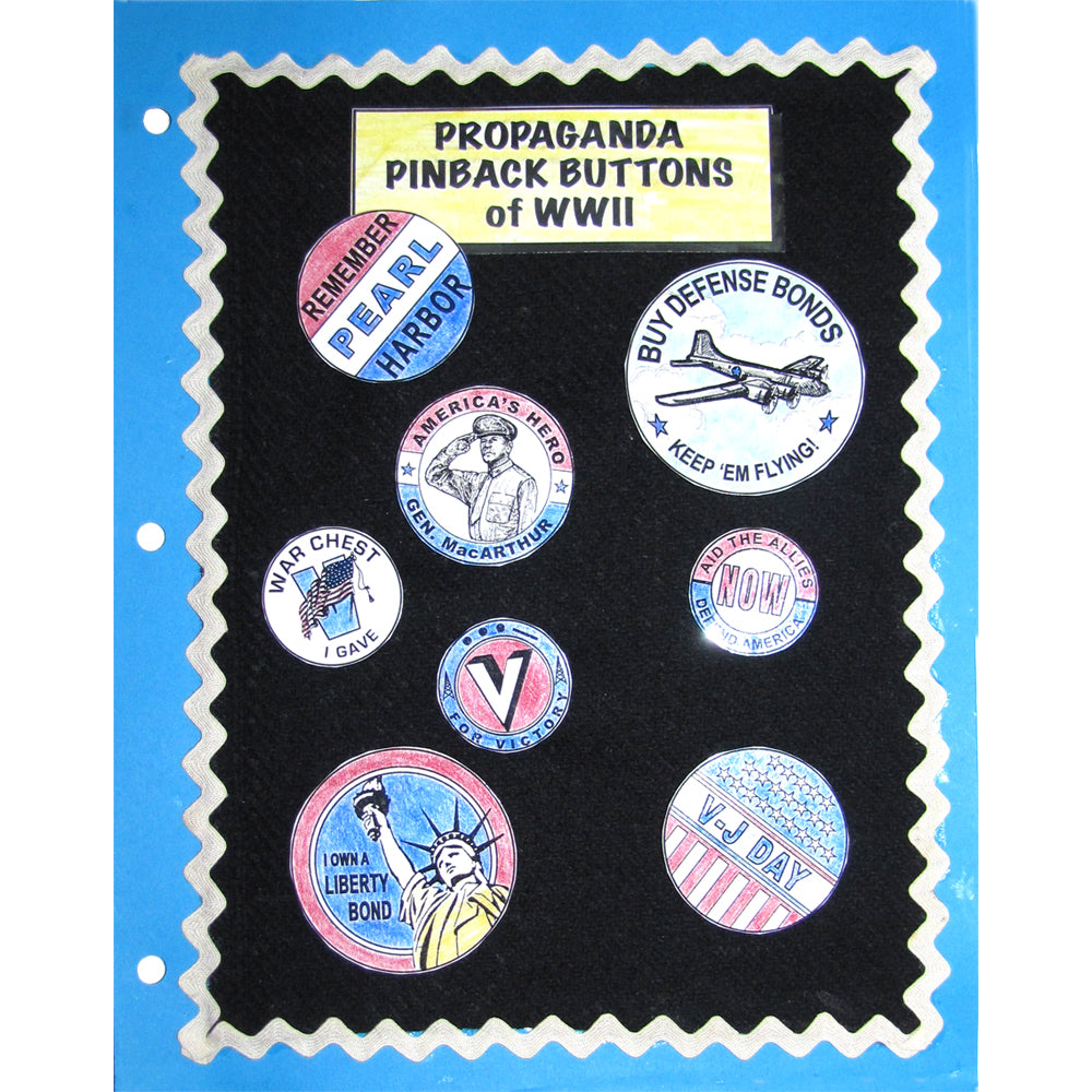 Propaganda Pinback Buttons Notebooking Project