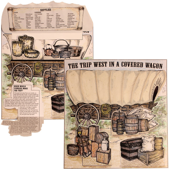 The Trip West in a Covered Wagon Lap Book/Notebook Project