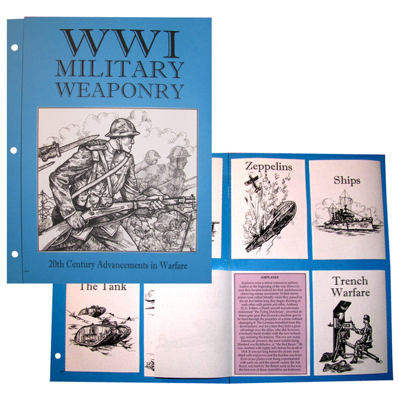 WWI: Military Weaponry Notebook Project