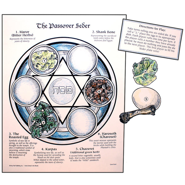 The Passover Seder Game Home School In The Woods Publishing