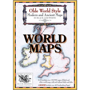 Olde World Style World Maps