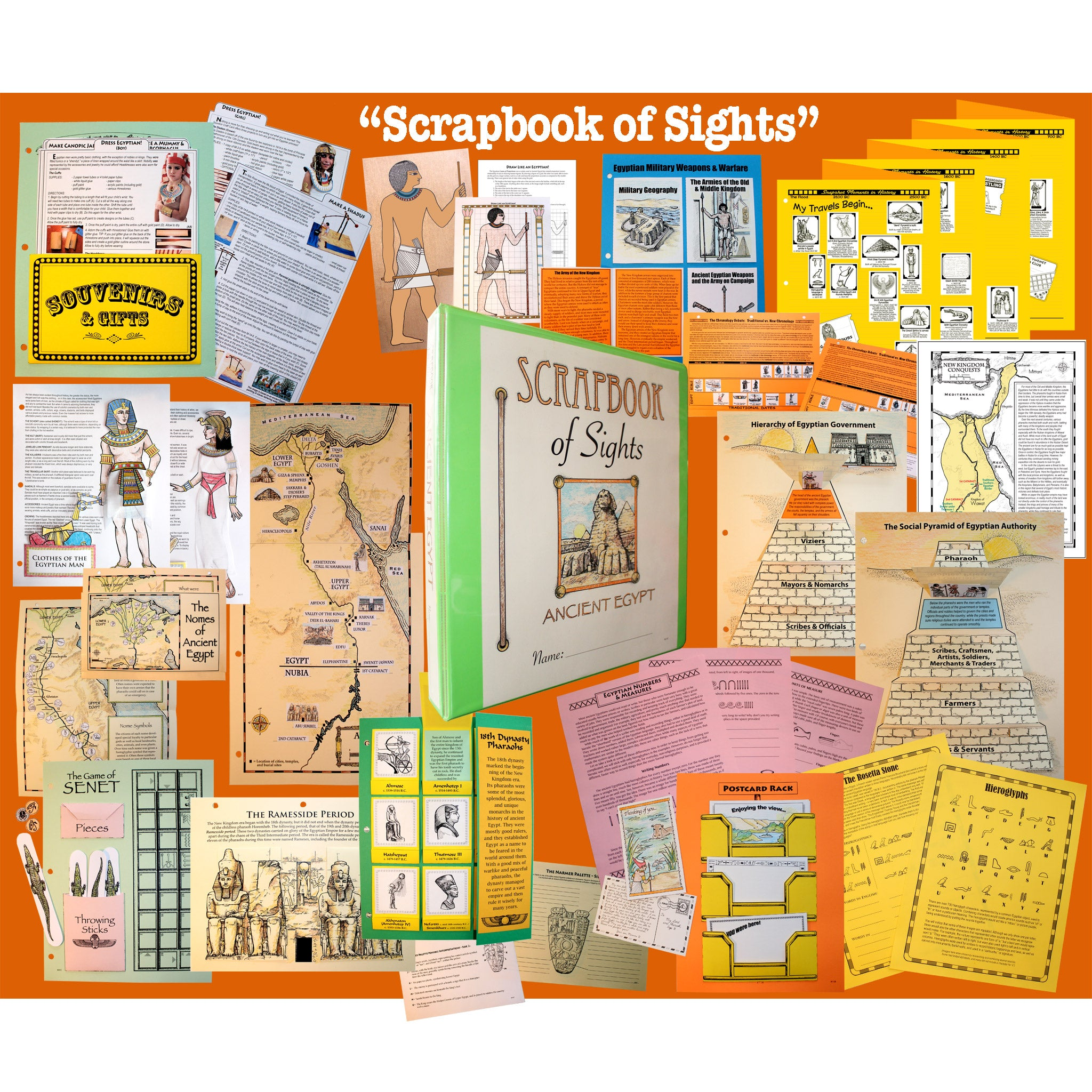Project passport ancient egypt world history study home school in project passport ancient egypt scrapbook of sights notebooking pages kristyandbryce Choice Image