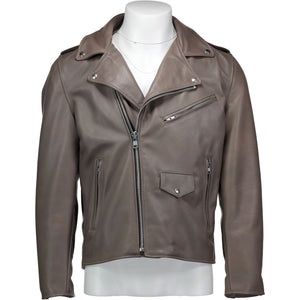 Moto Jacket in Concrete Cowhide