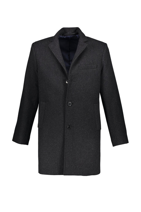 Washington Topcoat in Charcoal Wool-Cashmere
