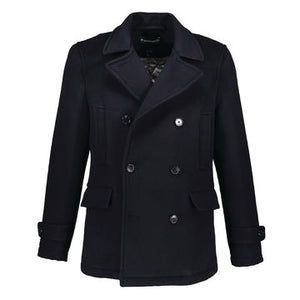 Madison Peacoat in Half-Cashmere Blend