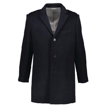 Washington Topcoat in Navy Italian Wool