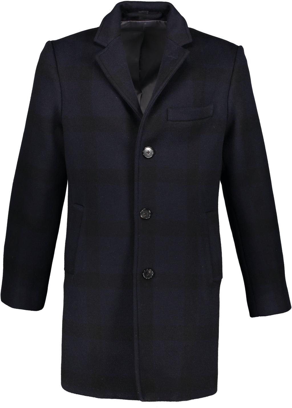 Washington Topcoat in Buffalo Check Half-Cashmere Blend