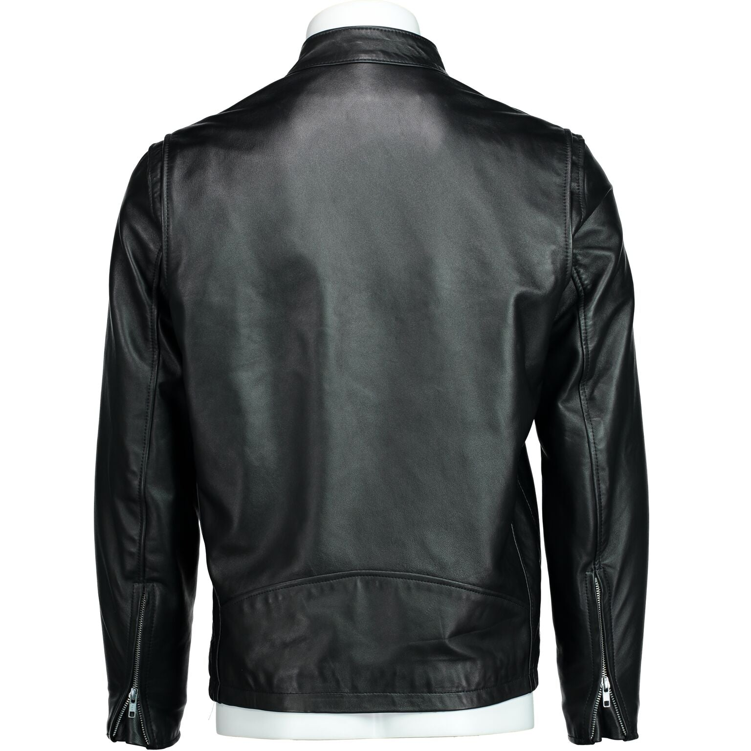 Cafe Racer Jacket in Black Lambskin