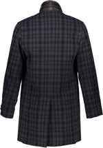 Washington Topcoat in Plaid Italian Wool