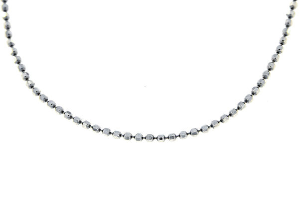 Sterling Silver Faceted Bead Chain