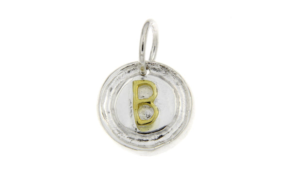 Two-Tone Initial Letter B Charm