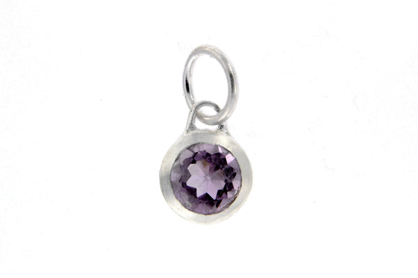 February Birthstone Bezel Charm