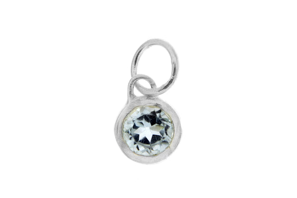 March Birthstone Bezel Charm