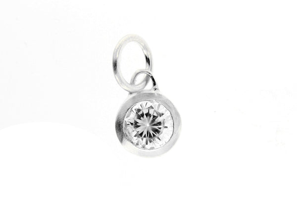 April Birthstone Bezel Charm