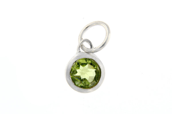 August Birthstone Bezel Charm