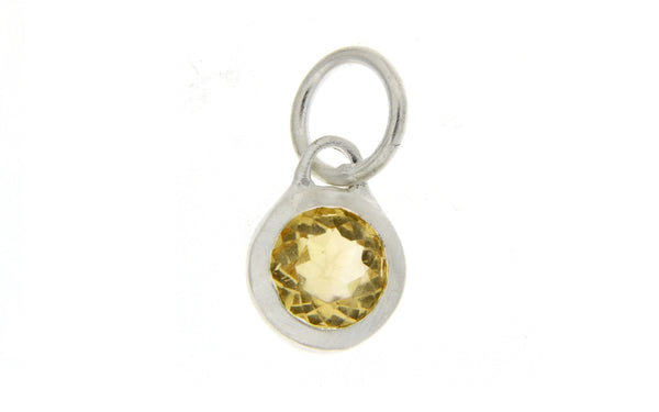 November Birthstone Bezel Charm